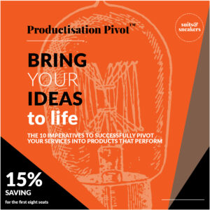 offer for 15% off for first 8 attendees. Light globe image suggesting ideas generated